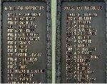 Inscription – World War One names, Beamsville Ontario War Memorial.