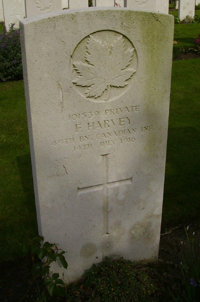Grave Marker – Grave marker ... Railway Dugouts Burial Ground … photo courtesy of Marg Liessens