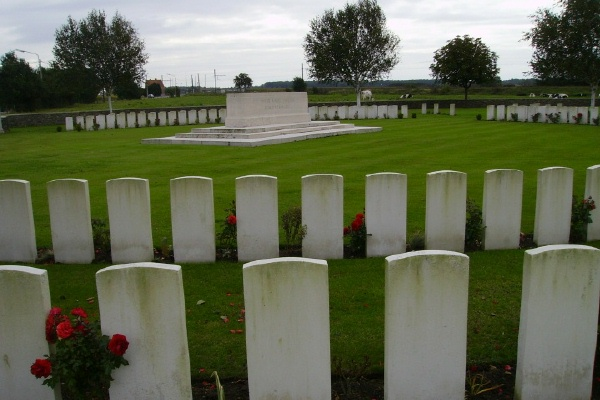 Memorial – Stone of Remembrance ... Railway Dugouts Burial Ground … photo courtesy of Marg Liessens