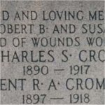 Detail of monument inscription.