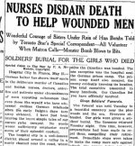 Newspaper Clipping – From the Toronto Star for 25 May 1918.
