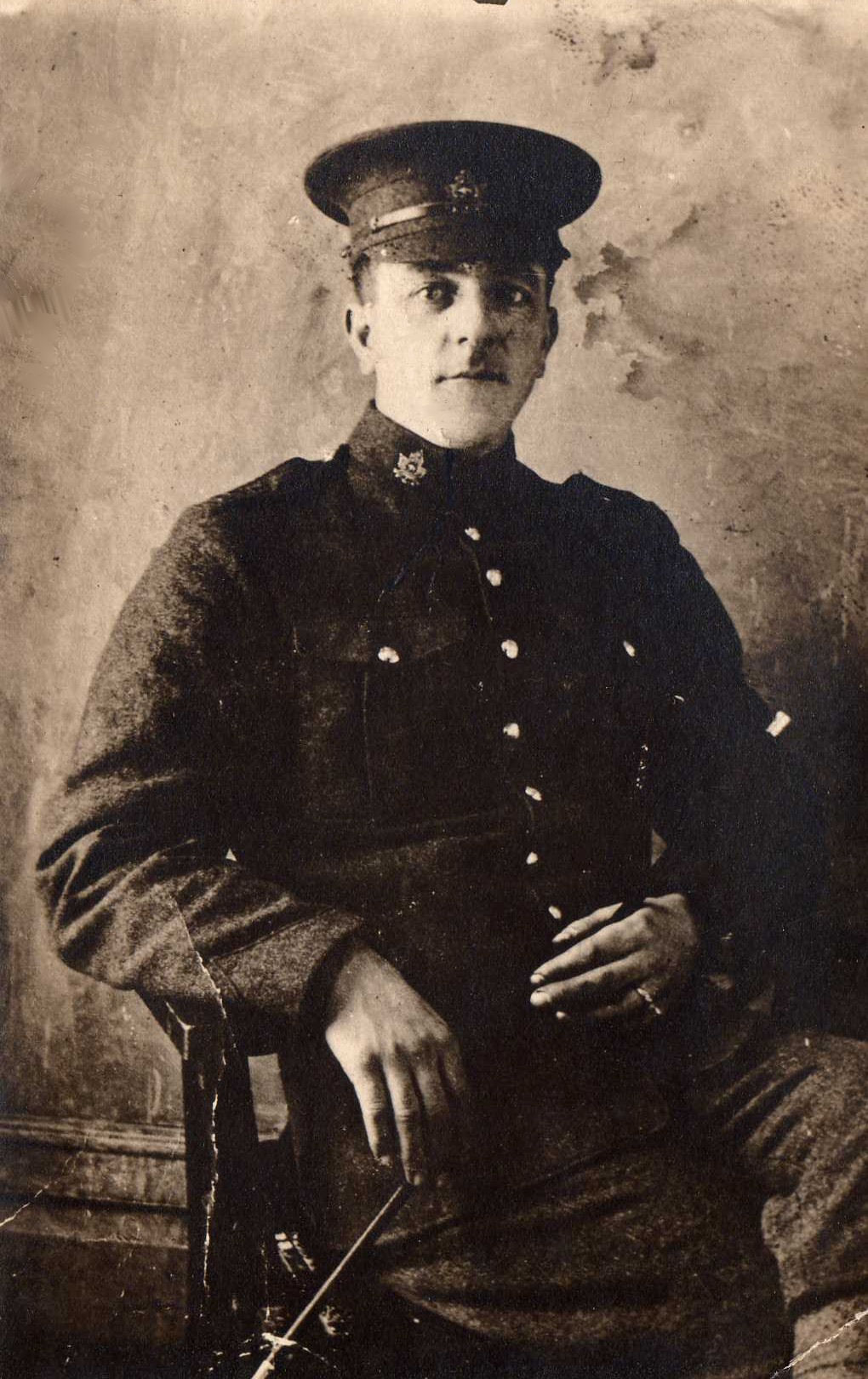 Photo of Gaston Delbrouck – Gaston Delbrouck came to Canada from Belgium in 1904. He was working as a clerk in Manitoba when he enlisted in the Canadian Army in August 1915. Private Delbrouck served in France with the 13th Infantry Battalion of the Canadian Expeditionary Force. He was severely wounded on September 6, 1916 during the Battle of the Somme. He died on September 11 and is buried in Rouen. Private Delbrouck was awarded the British War Medal and the British World War I Victory Medal.