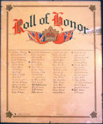 Roll of Honour – St. Andrew's Presbyterian Church, Gananoque. Photo courtesy of Chris Andrew.