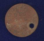 Identity Disc – Fibre Identification Disc of 766162 Pte A.L. Cleverdon, 123 Pioneer Battalion, CEF.