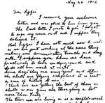 Letter – Letter from David Young to his sister Lizzie [Elizabeth McCallum, nee Young]