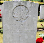 Grave Marker – Grave of Archibald Prince at Roclincourt Cemetery