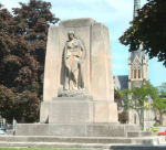 Galt War Memorial – The Cambridge (Galt) War Memorial, Queen's Square, Cambridge, Ontario.  Circa 1930. Frances Loring and William Lyon Somerville.