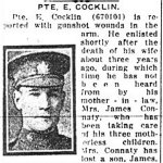 Newspaper Clipping – Pte. James Connaty is mentioned in this article about his brother-in-law.