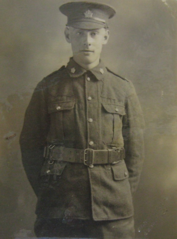 Photo of John McLean – Private John McLean, photo provided by Padre Phil Miller, Br. 25, RCL, Sault Ste. Marie, Ontario. We Will Remember Them.