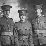 Ronald Ray and his brother Ken – R. R. Morris (right) with his brother, Kenneth Earl Morris (left), and an unknown soldier (centre). Ken survived the war.