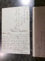 Post Card – Postcard from Clarence to his sister Plessa Myers.