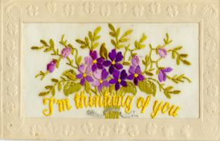 """Post Card – The front if the postcard Clarence sent to his sister Plessa on August 3rd, 1916.  It begins, """"Dear Sis, I know you'll never be able to answer all the mail I sent to you..."""""""