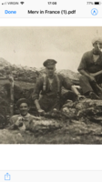 Photo of Wesley Tuddenham – Corporal Wes Tuddenham of Sudbury Ontario. Digging a Trench in France in 1916. Along with Thomas Green (left) and Seargent Melville Kilpatrick (right). Wes died of his wounds sustained in battle 6 months later.