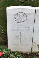 Grave Marker – The grave marker at the Givenchy-en-Gohelle Canadian Cemetery located on Vimy Ridge, walking distance from the Canadian Memorial. May he rest in peace. (J. Stephens)