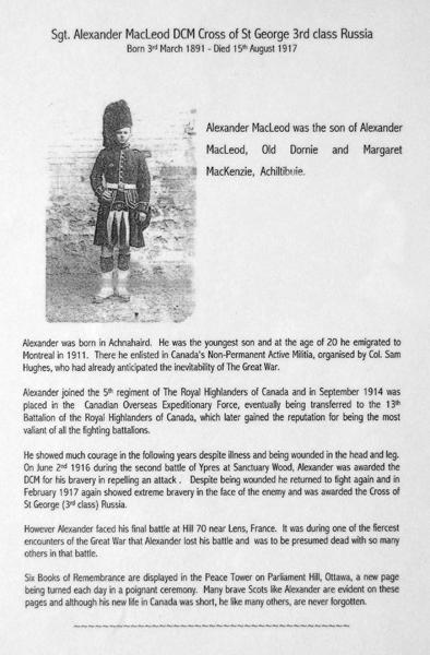 Photo of Alexander McLeod – Sgt Alexander McLeod DCM