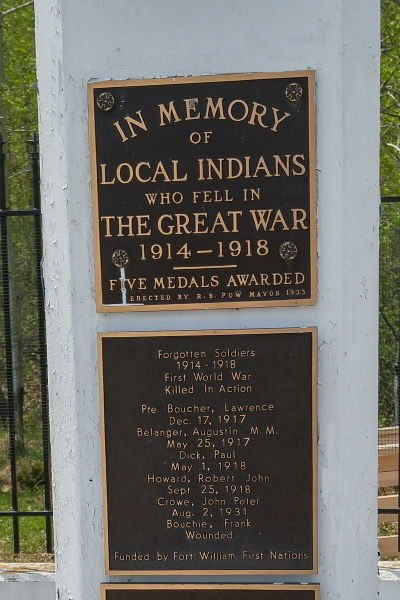 Memorial – Indian Memorial on Mount McKay, Thunder Bay, ON - May 2018 … photo courtesy of Marg Liessens