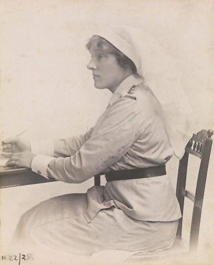 Photo of Dorothy Baldwin – Photo courtesy of the Great War Centenary Association.