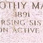Inscription – Photo of memorial on family marker at St.James Cemetery, Toronto for N/S Dorothy Baldwin. (Courtesy of Craig B.Cameron)