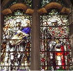War Memorial Window – One of the sets of War Memorial stained glass windows in the St. Thomas  Church Baptistry.