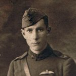 Photo of Edward William Graham – This man's name was William Ewart Graham.  He was born in Port Arthur, Ontario, on April 4, 1896.  He went by his middle name, Ewart. He died in a training flight accident in France.  The back of the photo has this caption:This is too solemn - barely as tall as he is - He is much too old. 14655 - WEG
