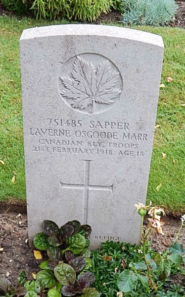 Grave Marker – Photo courtesy of Wilf Schofield, England