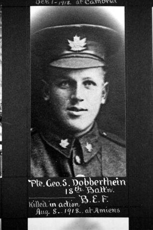 Photo of GEORGE STEWART DOBBERTHIEN – PART I (A-L): Elora and District Servicemen, 1914-1918.