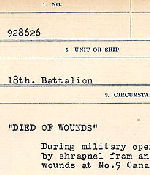 Circumstances of death registers – Source: Library and Archives Canada. CIRCUMSTANCES OF DEATH REGISTERS, FIRST WORLD WAR. Surnames: Deuel to Domoney. Microform Sequence 28; Volume Number 31829_B016737. Reference RG150, 1992-93/314, 172. Page 773 of 1084.
