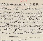 Enlistment Cards – Records are property of the Bruce County Museum and Cultural Centre.