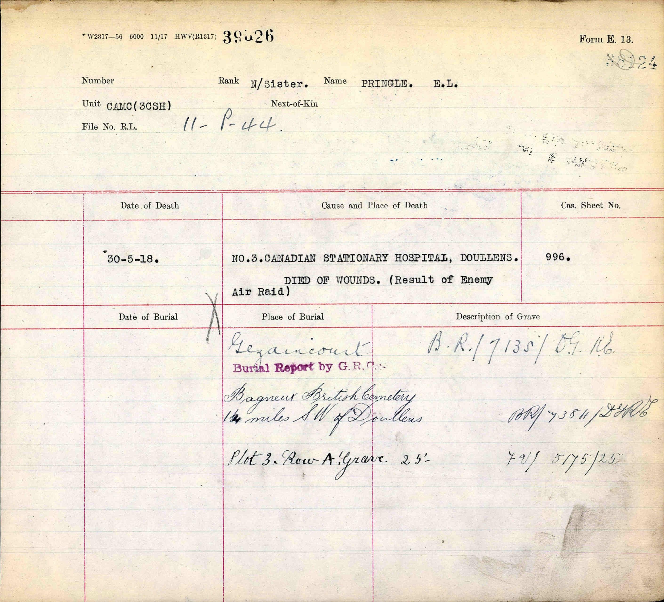 War Graves Document