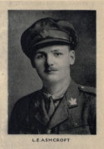 Photo of Lancelot Edgar Ashcroft – From the Memorial from the Great War 1914-1918: a record of service published by the Bank of Montreal 1921.