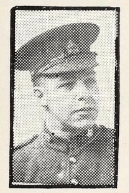 Photo of GEORGE SIDNEY ROWE – Photo from the National Memorial Album of Canadian Heroes c.1919. Submitted for the project, Operation: Picture Me.