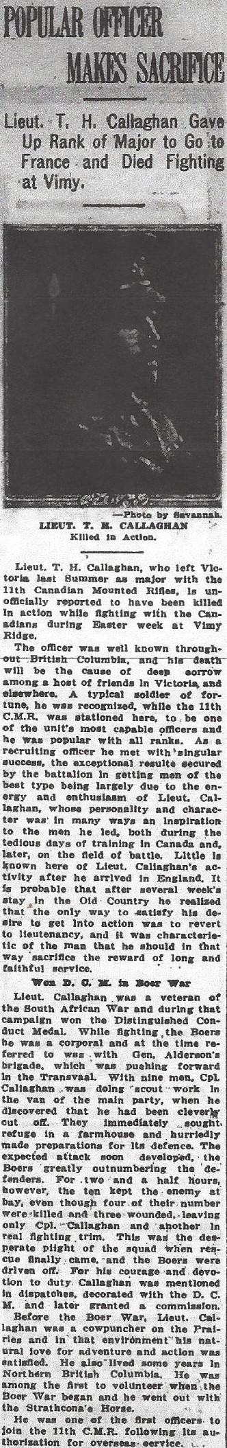 Newspaper clipping – From the Daily Colonist of May 12, 1917. Image taken from web address of http://archive.org/stream/dailycolonist59y132uvic#page/n0/mode/1up