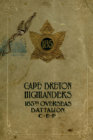 Memorial – In memory of the men who joined the 185th Battalion (Cape Breton Highlanders) who went to war and did not come home. Submitted for the project, Operation Picture Me