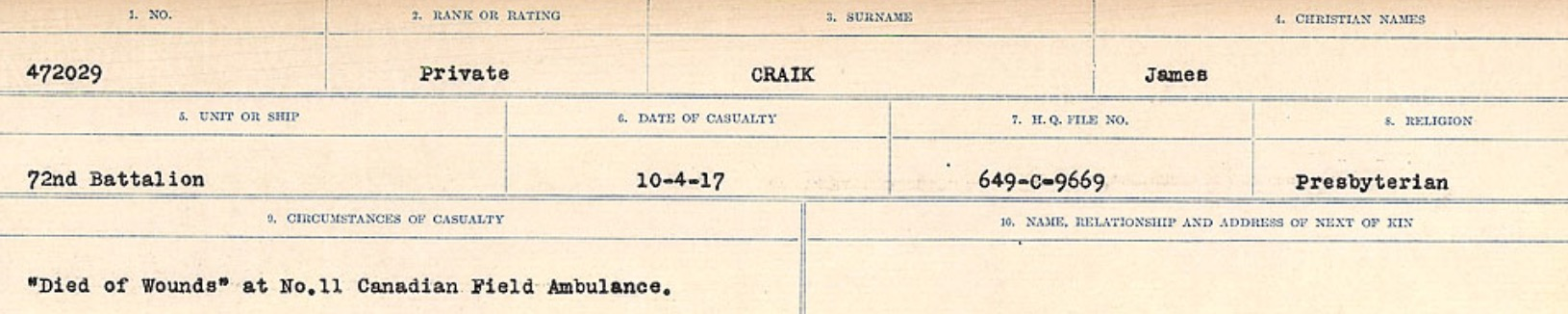 Circumstances of death registers