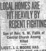Newspaper clipping – CALGARY DAILY HERAL 16 APRIL 1917