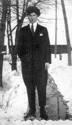 Photo of Henry Fountain – Henry Fountain- standing in his driveway on Elgin Street, Orillia, Ont.