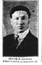 Newspaper Clipping – photo from the Orillia Times, Oct. 31, 1918.