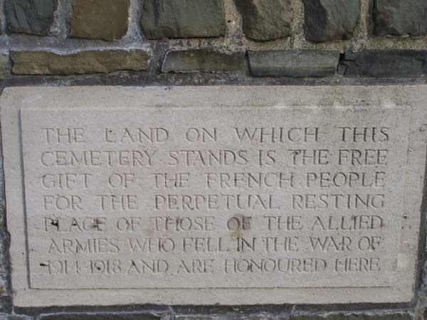 Bourlon Wood Cemetery Memorial Plaque