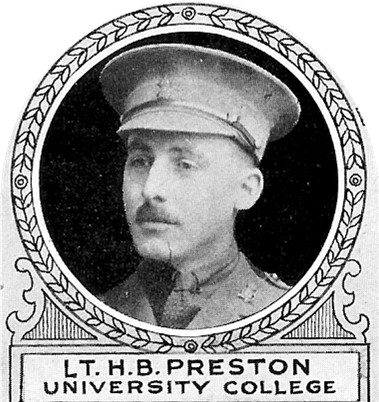 Photo of Harold Preston – From: The Varsity Magazine Supplement Fourth Edition 1918