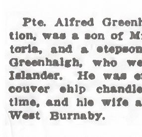 Newspaper clipping – From the Daily Colonist of January 23, 1917. Image taken from web address of http://archive.org/stream/dailycolonist59y37uvic#page/n0/mode/1up