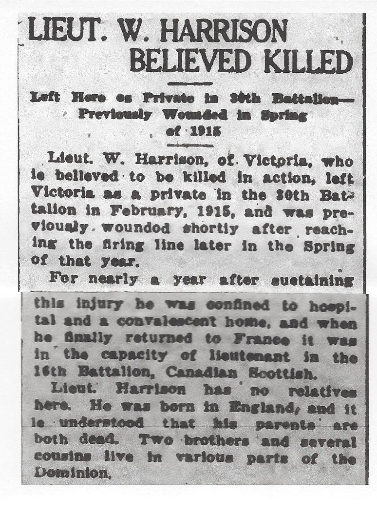 Newspaper clipping – From the Daily Colonist of April 18, 1917. Image taken from web address of http://archive.org/stream/dailycolonist59y111uvic#page/n0/mode/1up