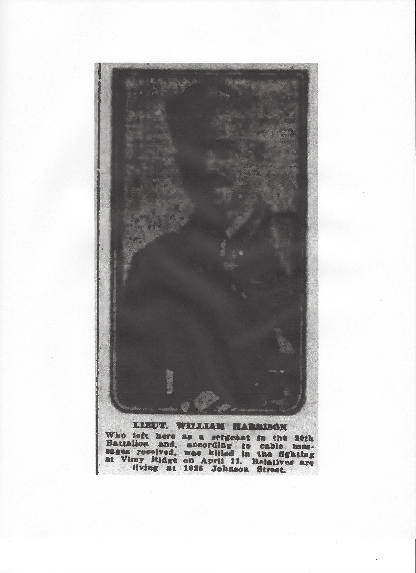 Newspaper Clipping – From the Daily Colonist of April 22, 1917. Image taken from web address of http://archive.org/stream/dailycolonist59y115uvic#page/n0/mode/1up