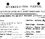 Attestation Papers – Source: Library and Archives Canada