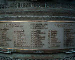 Inscription – Detail of the World War One names listed on the Japanese Canadian War Memorial, British Columbia.