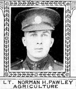 Photo of Norman Pawley – From: The Varsity Magazine Supplement Fourth Edition 1918