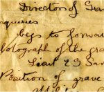 Letter – Direction to Edwin Savage's Grave