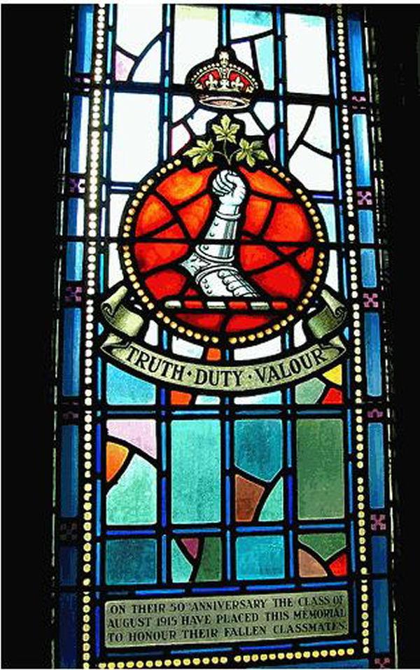 Memorial – Memorial window, Royal Military College, Kingston, Ontario