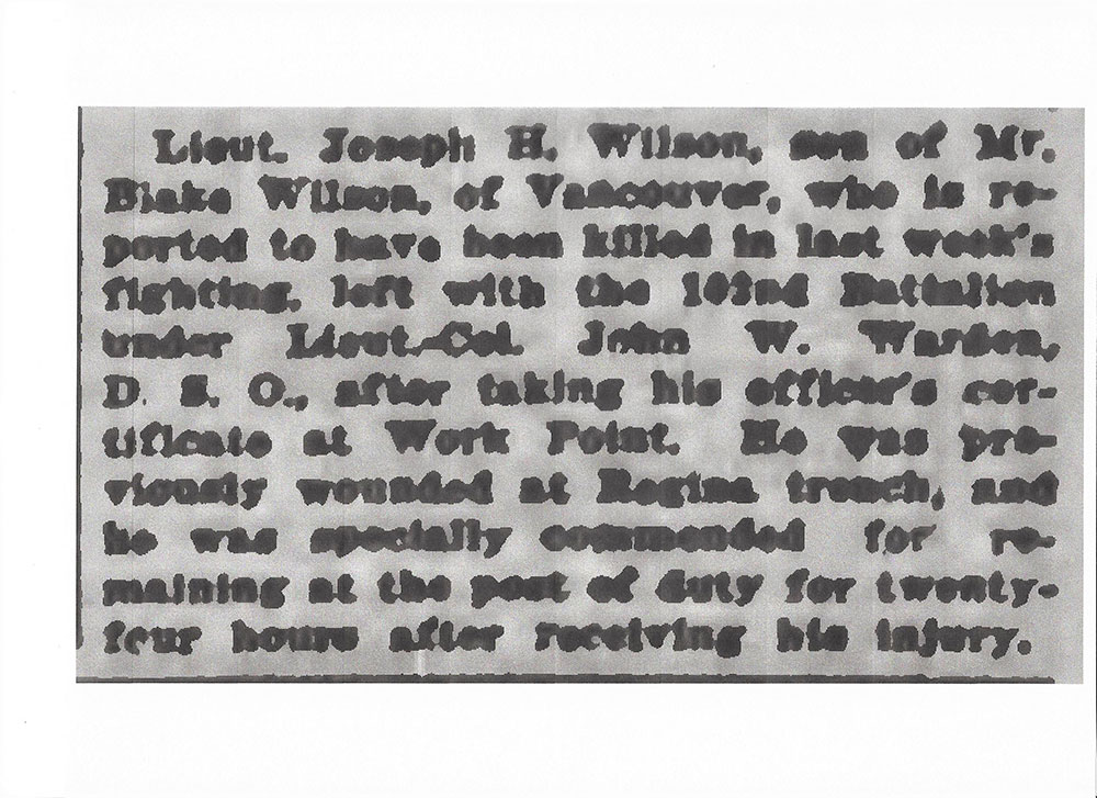 Newspaper clipping – From the Daily Colonist of April 19, 1917. Image taken from web address of http://archive.org/stream/dailycolonist59y112uvic#page/n0/mode/1up