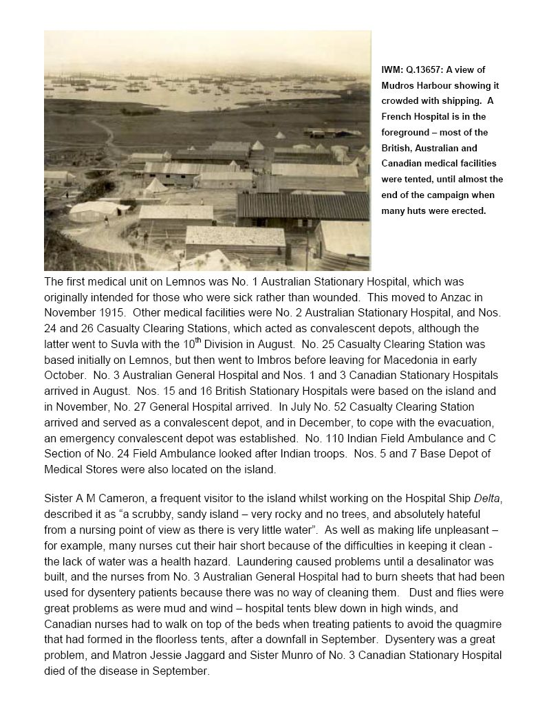 "Essay – Page 10 of ""The Joint Imperial War Museum / Australian War Memorial Battlefield Study, Tour to Gallipoli, September 2000."""