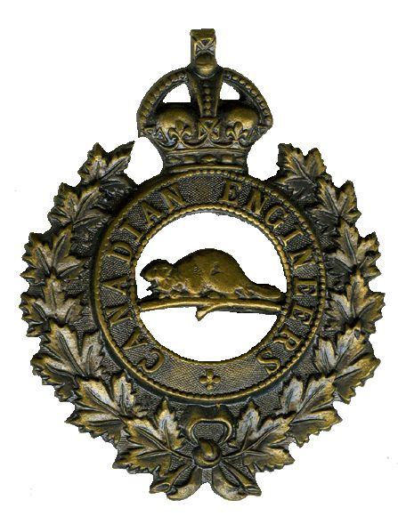 Cap Badge – Cap Badge Canadian Engineers.  Sapper Agnew enlisted with the 92nd Bn (48th Highlanders of Canada) but was transferred to the Canadian Engineers as a reinforcement.  Submitted by Capt (ret'd) V. Goldman, 15th Bn Memorial Project team.  DILEAS GU BRATH